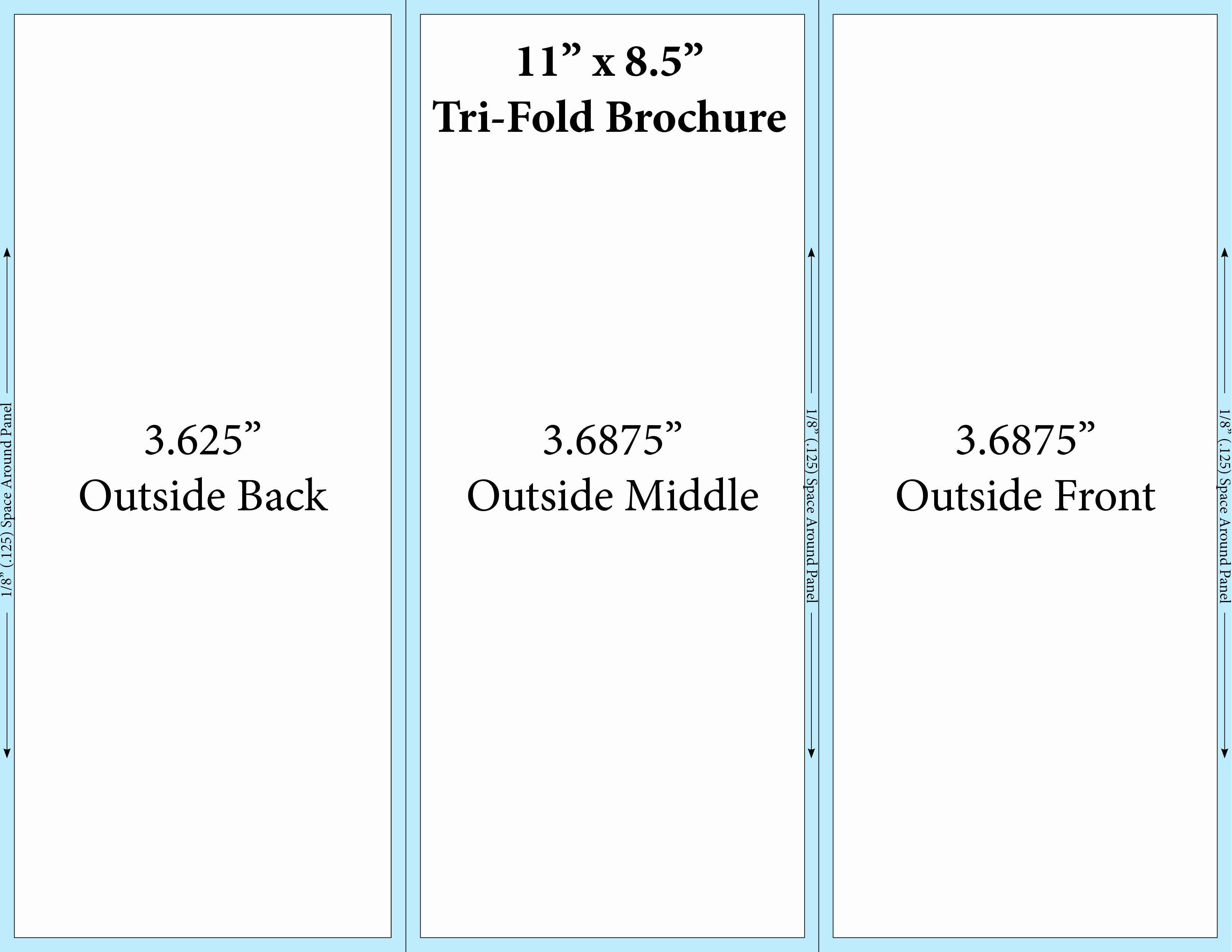 Tri Fold Brochure Word Template Unique Free Printable Tri Fold Brochure Templates