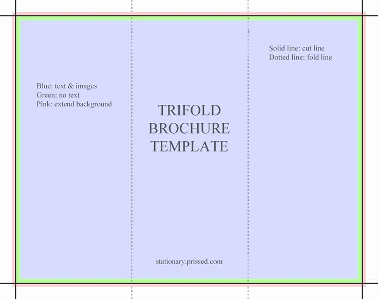 Tri Fold Template for Word Elegant Blank Tri Fold Brochure Template Free Download