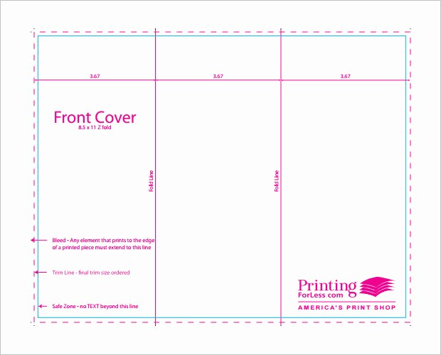 Tri Fold Template for Word Fresh Tri Fold Brochure Template Indesign Free Download