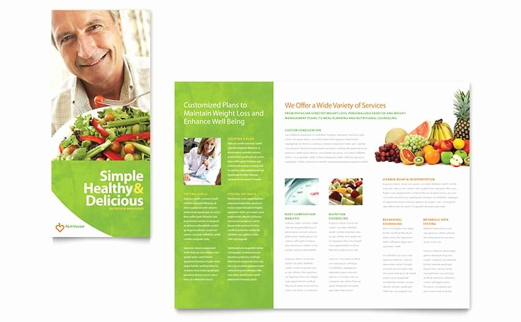 Tri Fold Template for Word Luxury Nutritionist & Dietitian Tri Fold Brochure Word Template