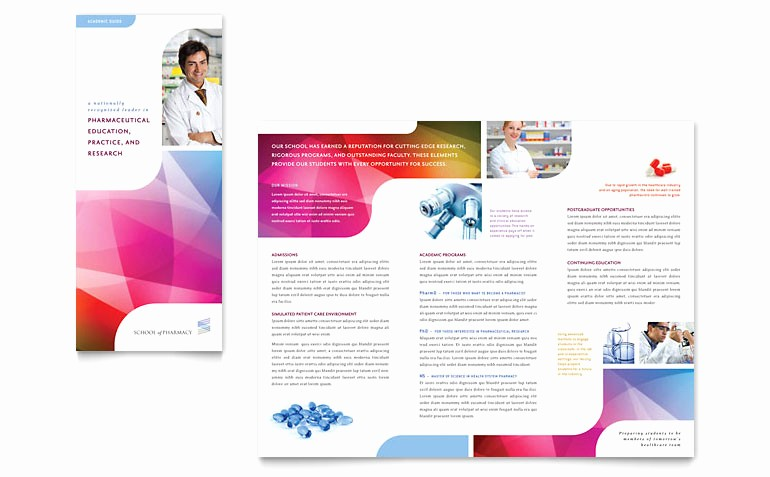 Tri Fold Template for Word Luxury Pharmacy School Tri Fold Brochure Template Word & Publisher