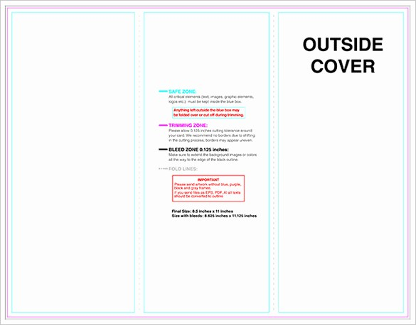Tri Fold Template for Word Unique 10 Printable Trifold Templates Doc Psd Pdf Eps