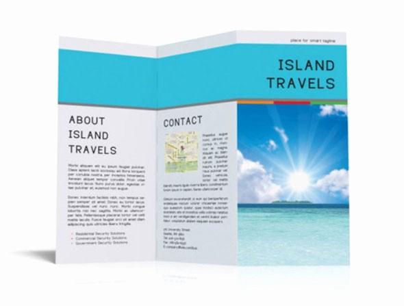 Tri Fold Travel Brochure Examples Awesome 40 Print Ready Brochure Templates