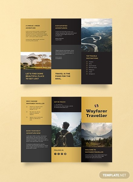 Tri Fold Travel Brochure Examples Awesome Free Summer Camp Brochure Template Download 151