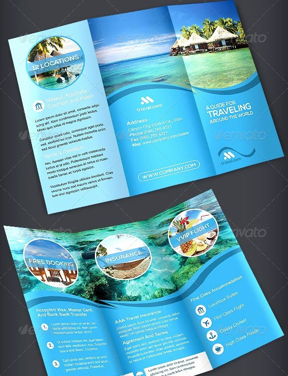 Tri Fold Travel Brochure Examples Awesome Travel Trifold Brochure Volume 1 Template