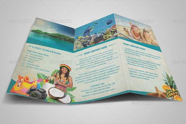 Tri Fold Travel Brochure Examples Elegant 34 Tri Fold Brochure Designs & Examples Psd Ai Vector Eps