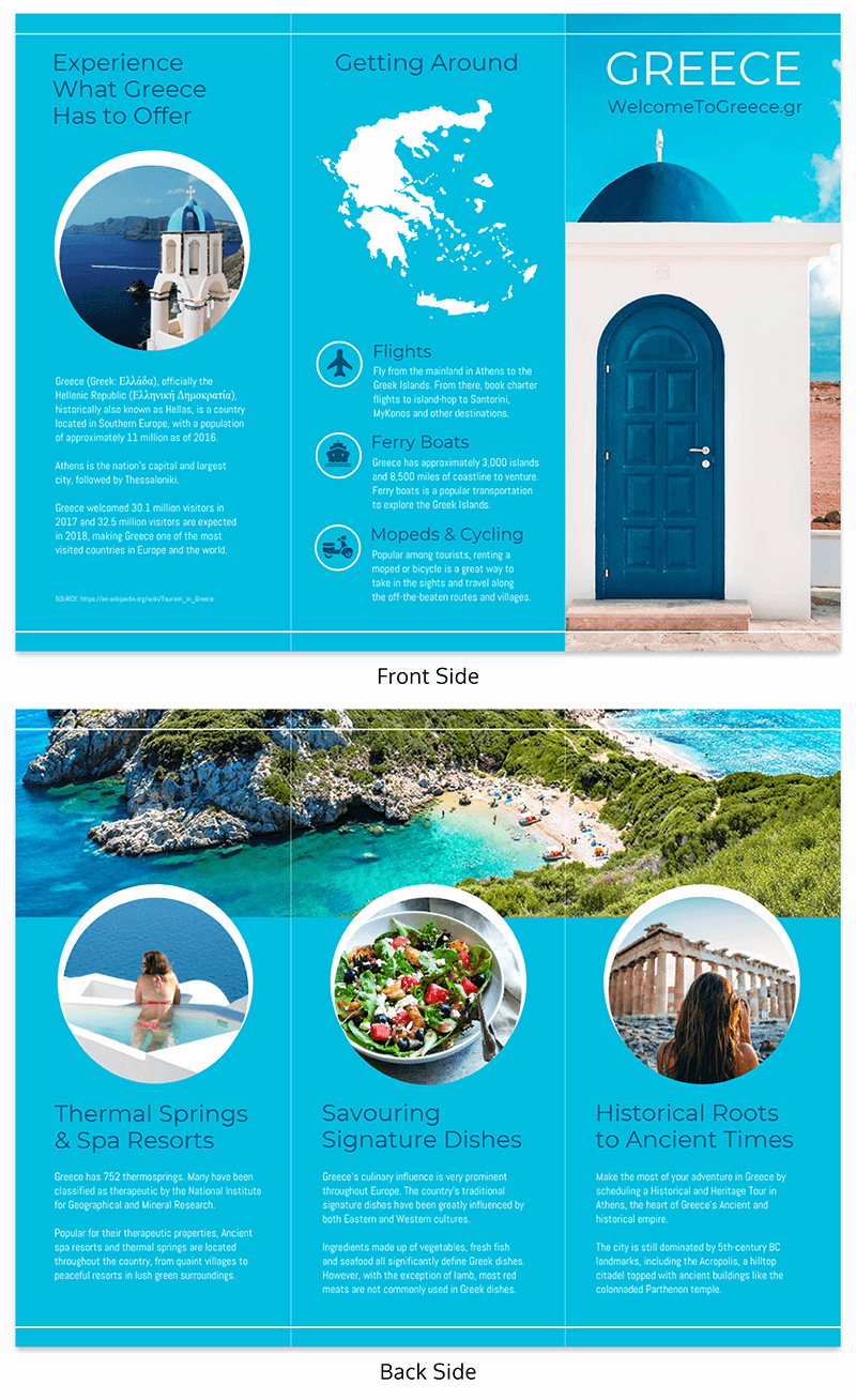 Tri Fold Travel Brochure Examples Elegant 35 Creative Brochure Ideas Examples & Templates