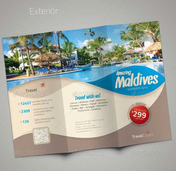 Tri Fold Travel Brochure Examples Elegant Travel Brochure Templates 21 Download In Psd Vector