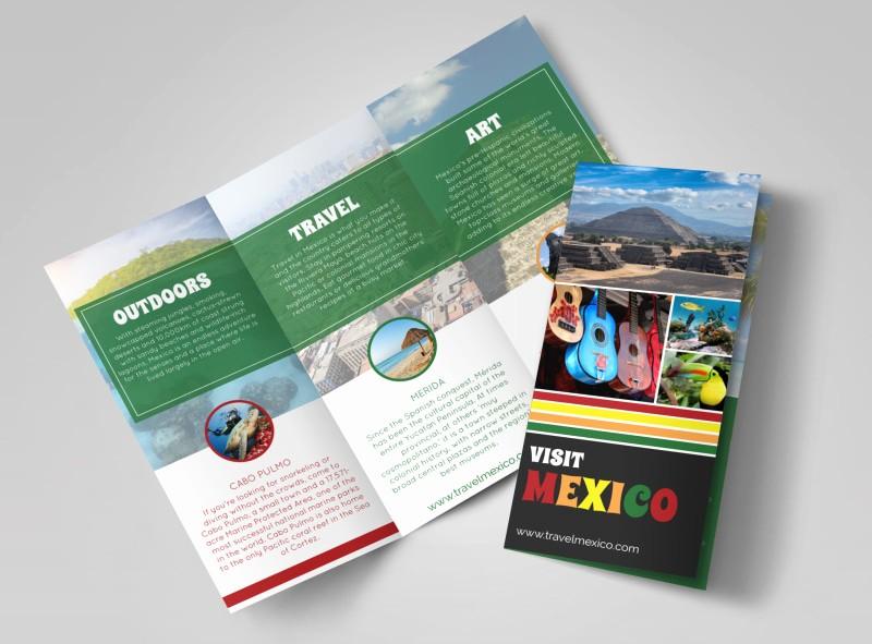 Tri Fold Travel Brochure Examples Fresh Mexico Travel Tri Fold Brochure Template