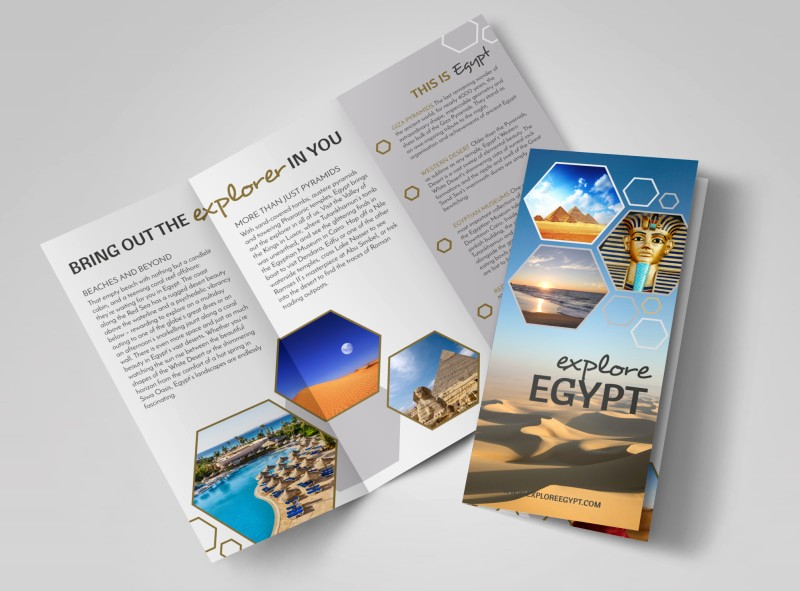 Tri Fold Travel Brochure Examples Inspirational Travel Egypt Tri Fold Brochure Template