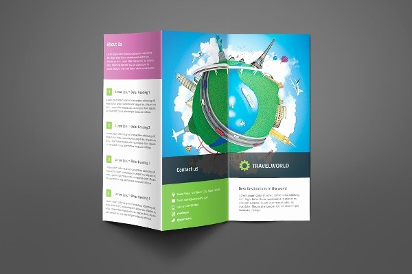 Tri Fold Travel Brochure Examples Lovely Travel Brochures – 18 Psd Ai Vector Eps format Download
