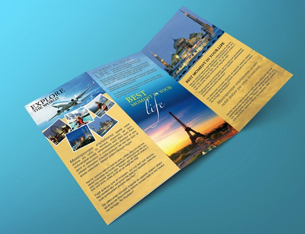 Tri Fold Travel Brochure Examples Luxury Tri Fold Travel Brochure Template – Graphicloads