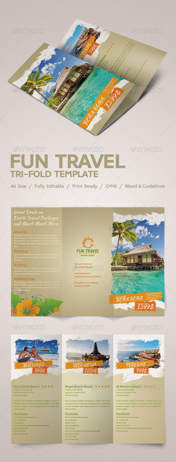Tri Fold Travel Brochure Examples New Fun Travel Tri Fold Brochure