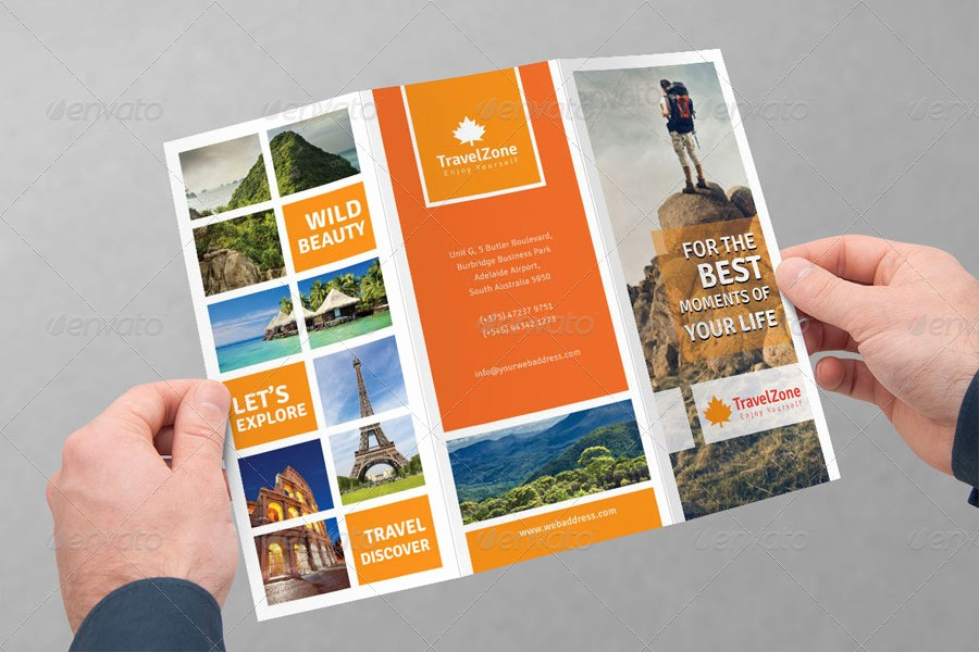 Tri Fold Travel Brochure Examples New tourism Tri Fold Brochure Volume 1 by Femo