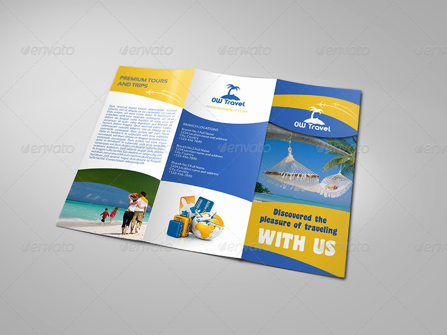 Tri Fold Travel Brochure Examples New Travel Pany Tri Fold Brochure Template by Ow