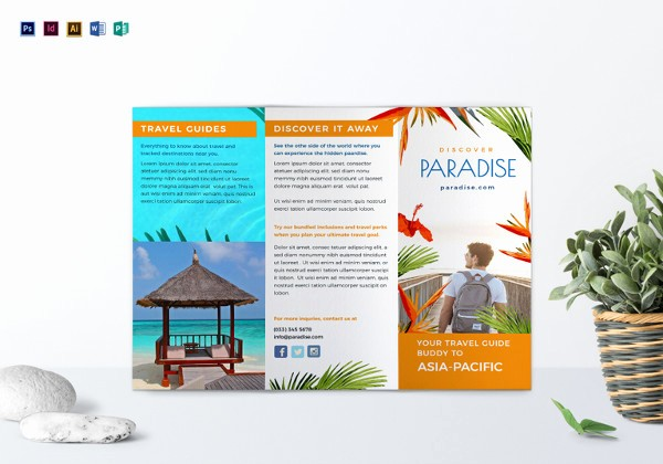 Tri Fold Travel Brochure Examples Unique 14 Travel Brochure Designs & Examples Psd Ai Vector