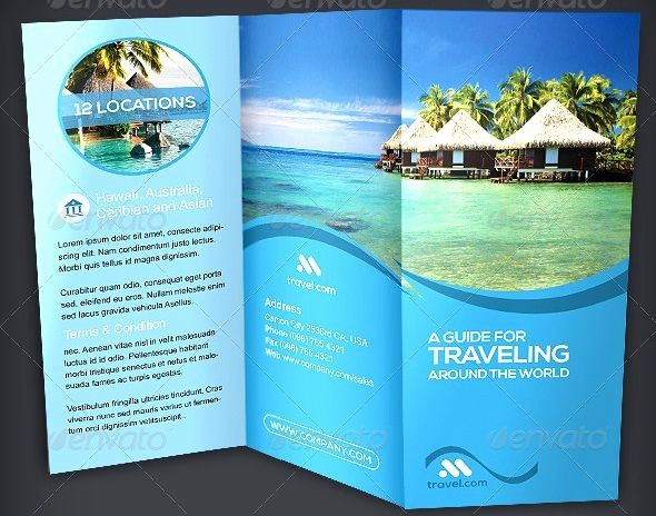 Tri Fold Travel Brochure Examples Unique 9 Best Brochures Images On Pinterest