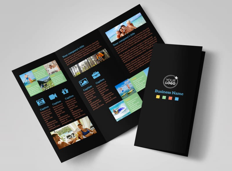 Tri Fold Travel Brochure Examples Unique Travel Adventure Activities Brochure Template