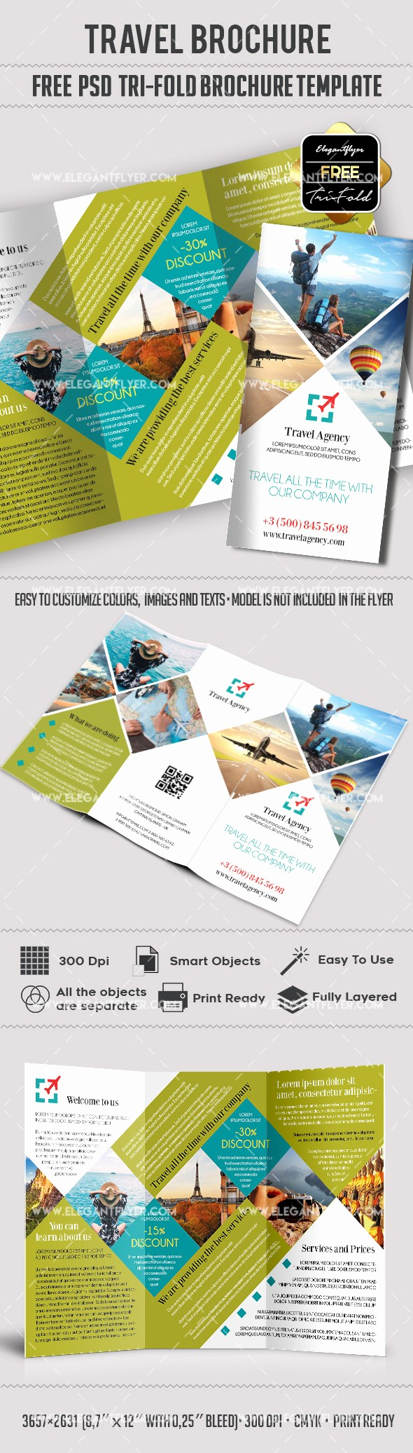 Tri Fold Travel Brochure Examples Unique Travel – Free Psd Tri Fold Psd Brochure Template – by