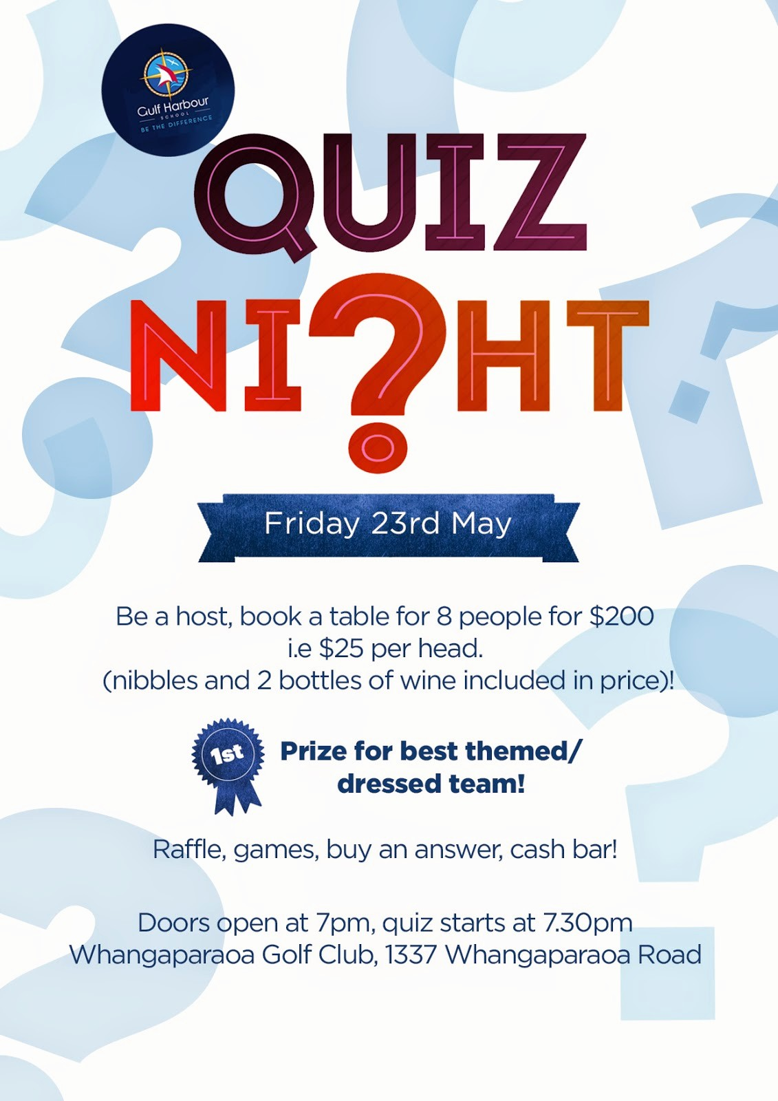 Trivia Night Flyer Template Free Awesome Gulf Harbour School Notices Gulf Harbour School Quiz Night