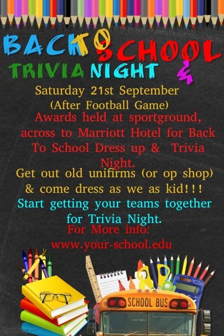Trivia Night Flyer Template Free Beautiful Quiz Night