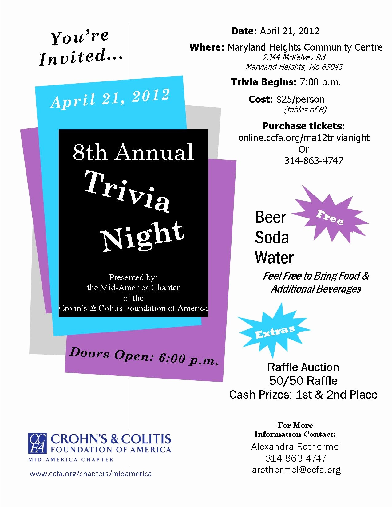 Trivia Night Flyer Template Free Best Of 2012 Mid America Trivia Night Crohn S & Colitis Foundation