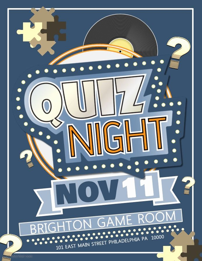 Trivia Night Flyer Template Free Best Of Quiz Night Petition Poster Template