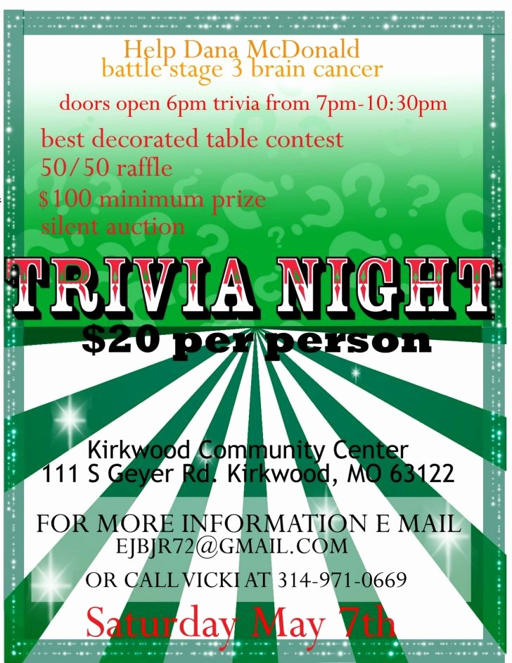 Trivia Night Flyer Template Free Elegant Quiz Poster Template Word Professional High Quality