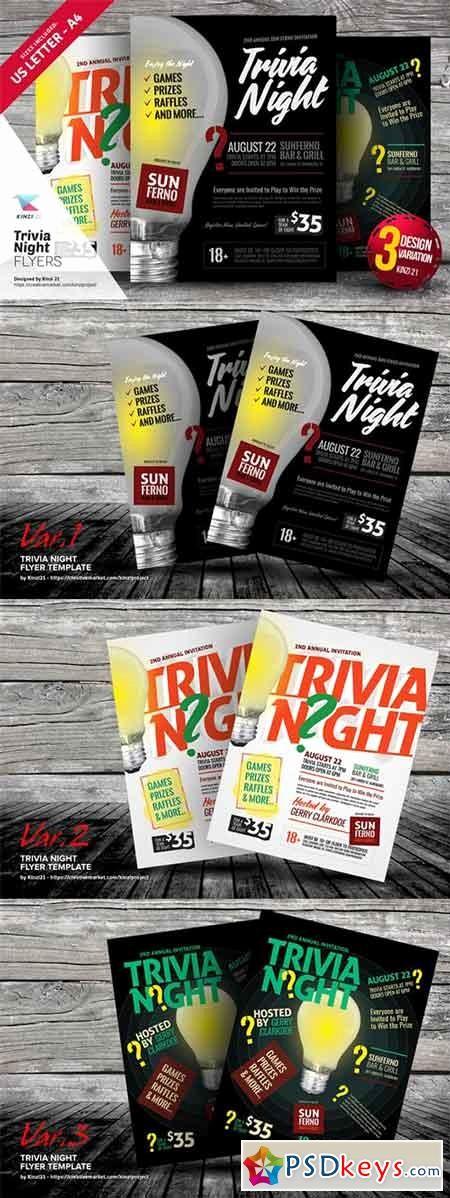Trivia Night Flyer Template Free Elegant Trivia Night Flyer Templates A Free Download Shop