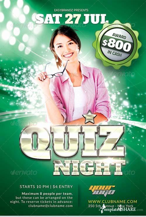 Trivia Night Flyer Template Free Luxury Graphicriver Quiz Night Flyer Template Templates4share