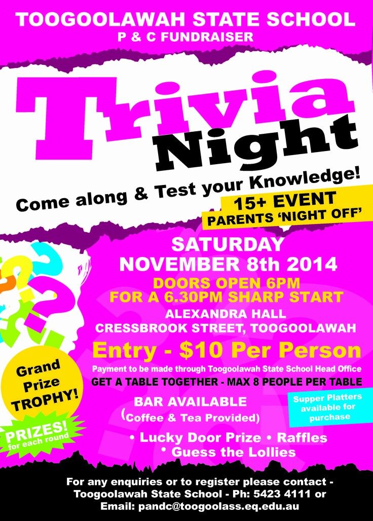 Trivia Night Flyer Template Free Luxury Trivia Night Poster to Pin On Pinterest