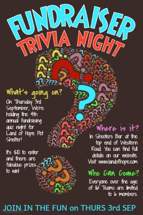Trivia Night Flyer Template Free Luxury Trivia Quiz Night Poster Template