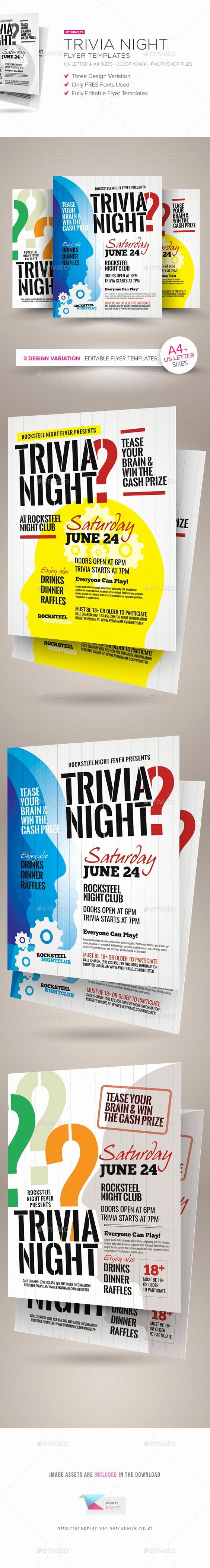 Trivia Night Flyer Template Free New Night Trivia and Flyers On Pinterest