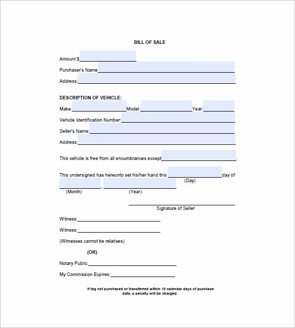 Truck Bill Of Sale Pdf Inspirational 6 Automobile Bill Of Sale Free Sample Example format