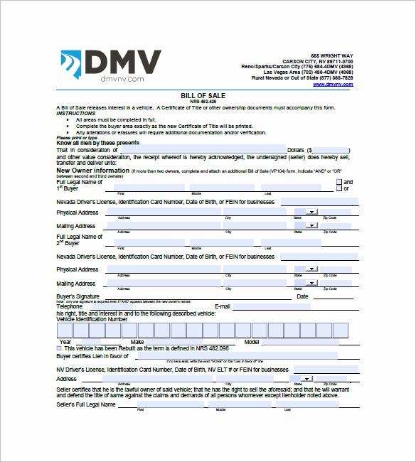 Truck Bill Of Sale Pdf New Car Bill Of Sale – 10 Free Sample Example format