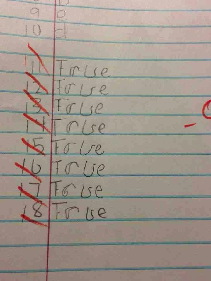 True or False Quiz Maker Best Of True or False Quiz Answers Imgur Exam Paper Picture Shows