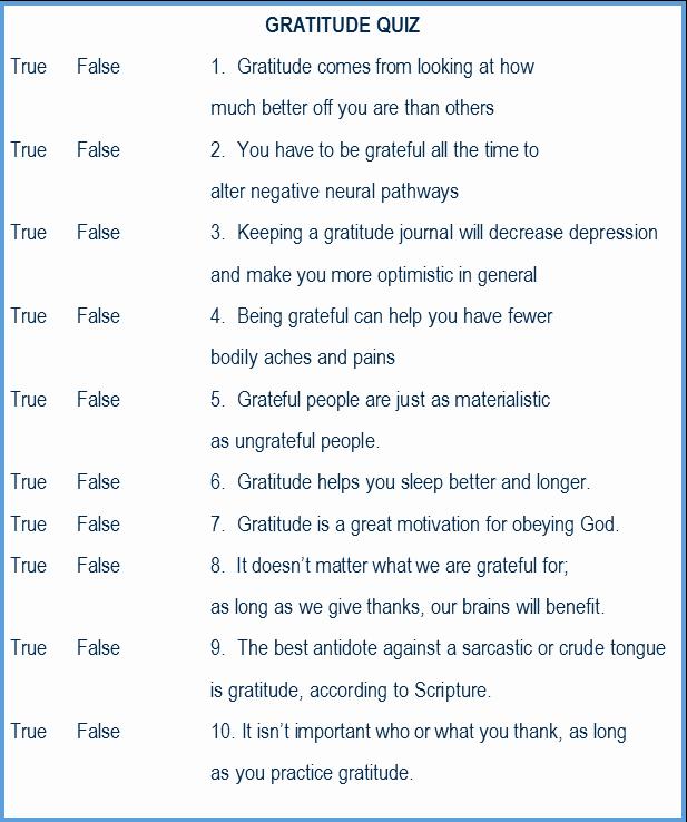 True or False Quiz Maker Elegant the soul at Rest Blog Gratitude A Quiz A Printable and