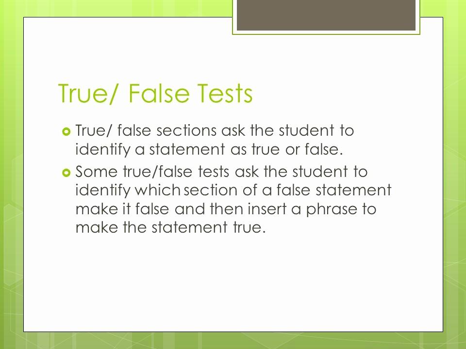 True or False Quiz Maker Fresh Test Taking Tips and Tricks Ppt Video Online