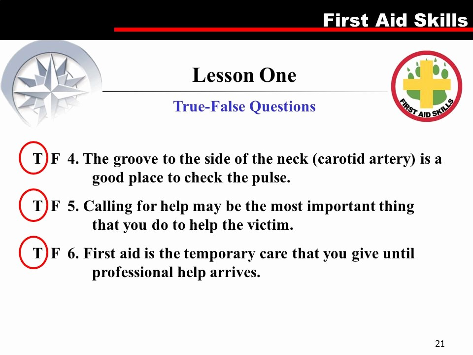 True or False Quiz Maker Lovely First Aid Merit Badge This is A 5 Lesson Plan which Can Be