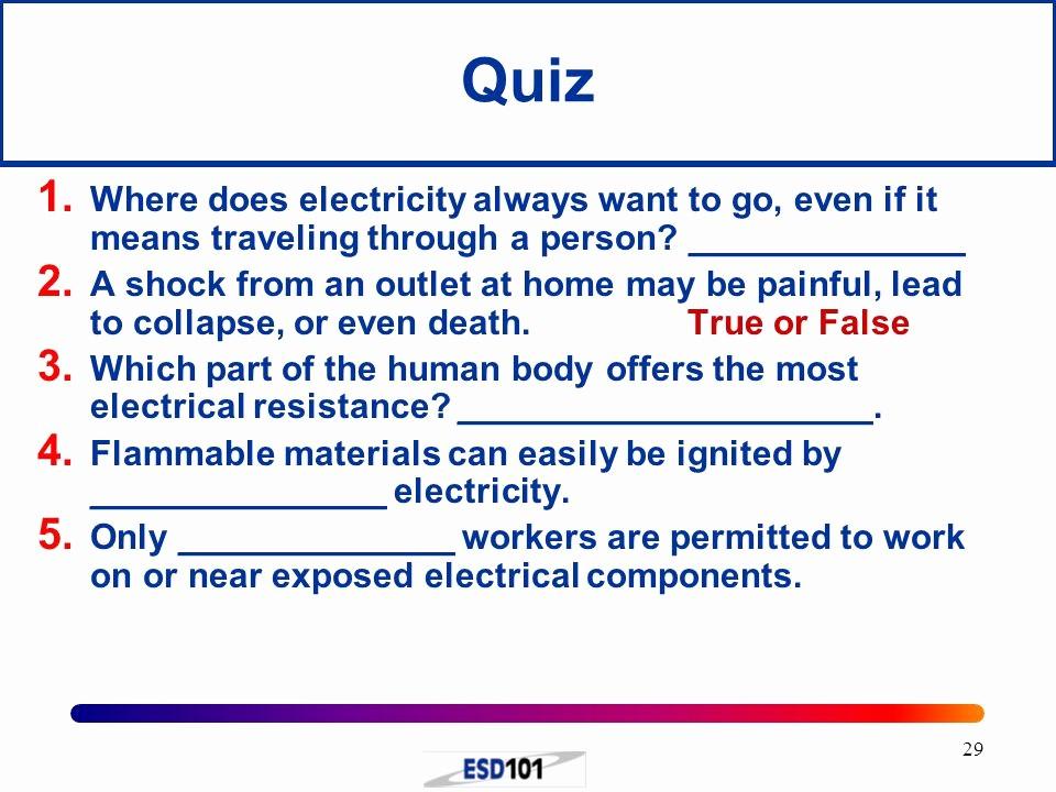 True or False Quiz Maker Lovely School Safety Training Ppt