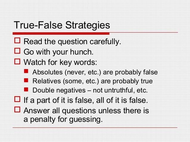 True or False Quiz Maker Lovely Test Taking Skills