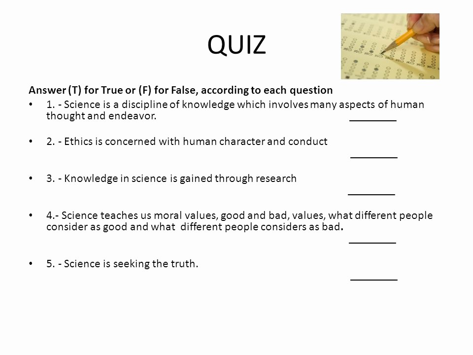 True or False Quiz Maker Luxury Ethics and Values Ii Info for First Partial Ppt
