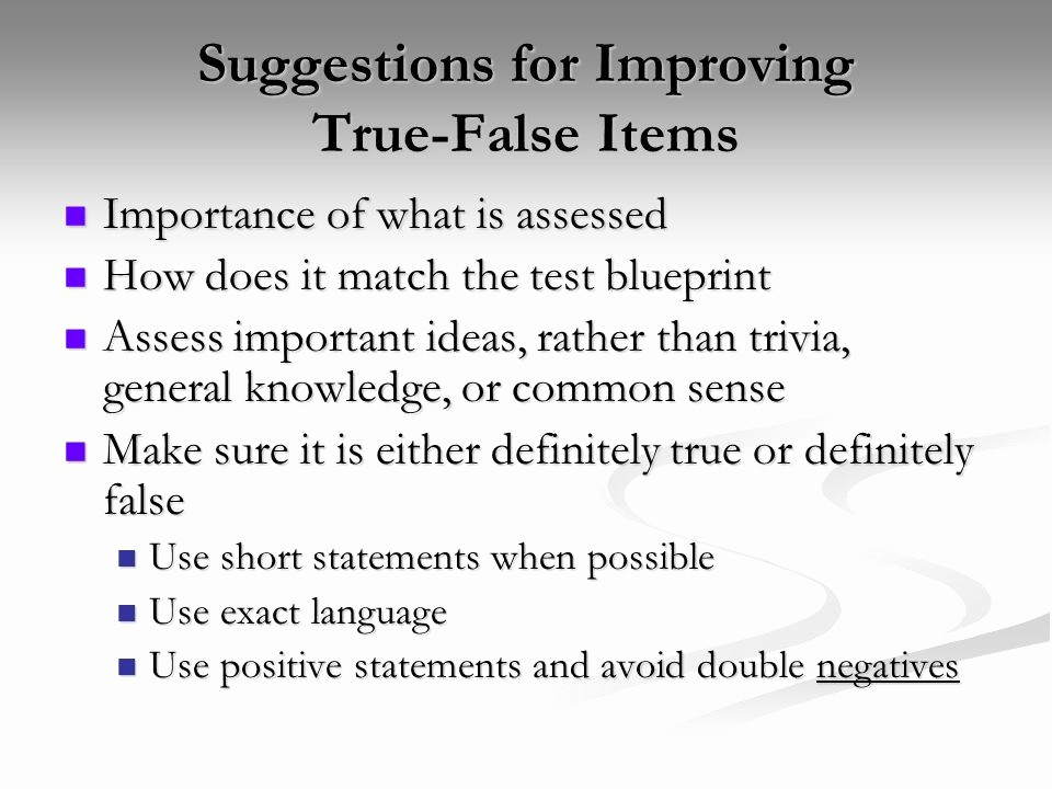 True or False Quiz Maker Luxury Pletion Short Answer and True False Items Ppt Video