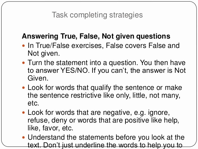 True or False Quiz Maker Luxury the Ielts Test Reading