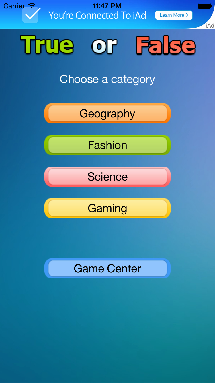 True or False Test Template Awesome True or False Game for Ios Swift by Codinglyft