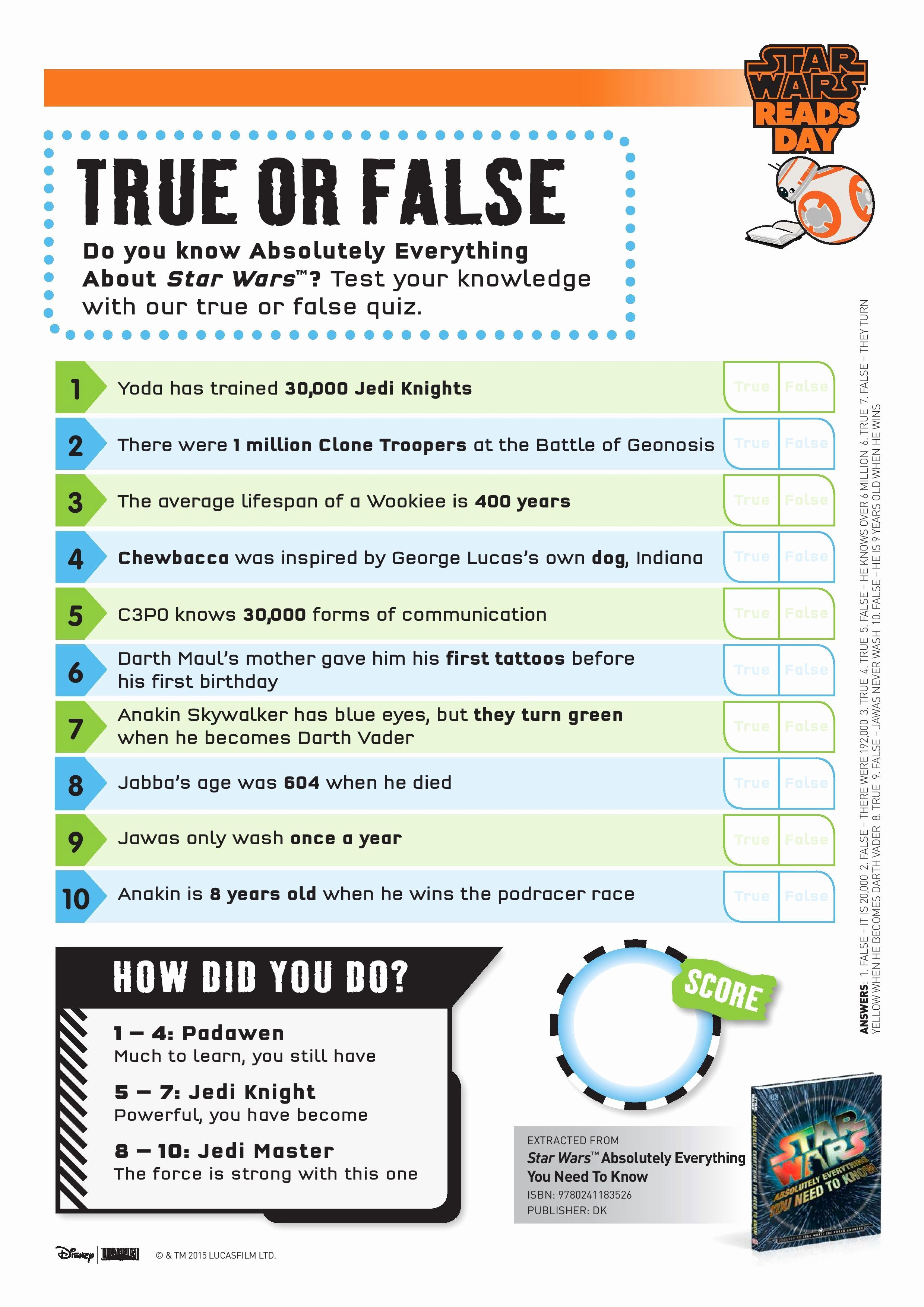 True or False Test Template Fresh Printable Star Wars Activity Sheets In the Playroom