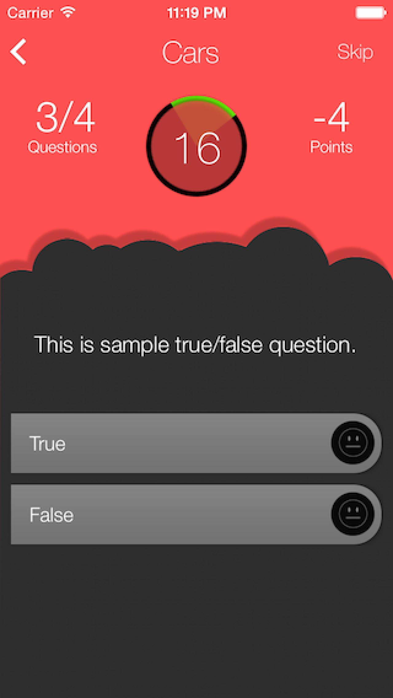 True or False Test Template Lovely Trivia Quiz Creator Line