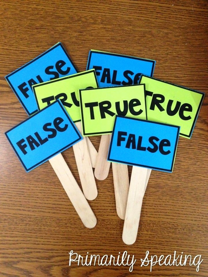 True or False Test Template Luxury Love these True False Paddles From Primarily Speaking A