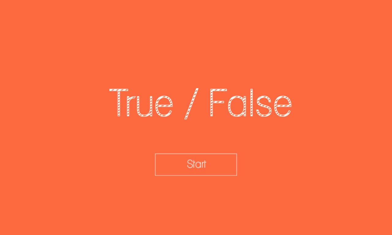 True or False Test Template New True or False HTML5 Game by Demonisblack