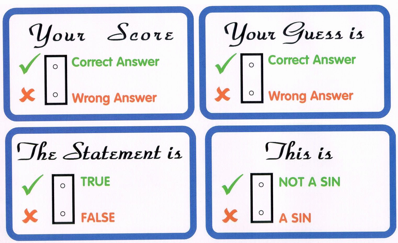 True or False Test Template Unique How to Build An Evangelistic Bible Quiz Booth